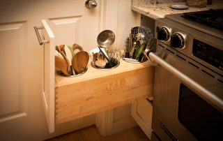 pull out drawer for holding kitchen cooking tools
