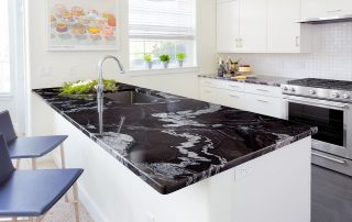 black marble countertops